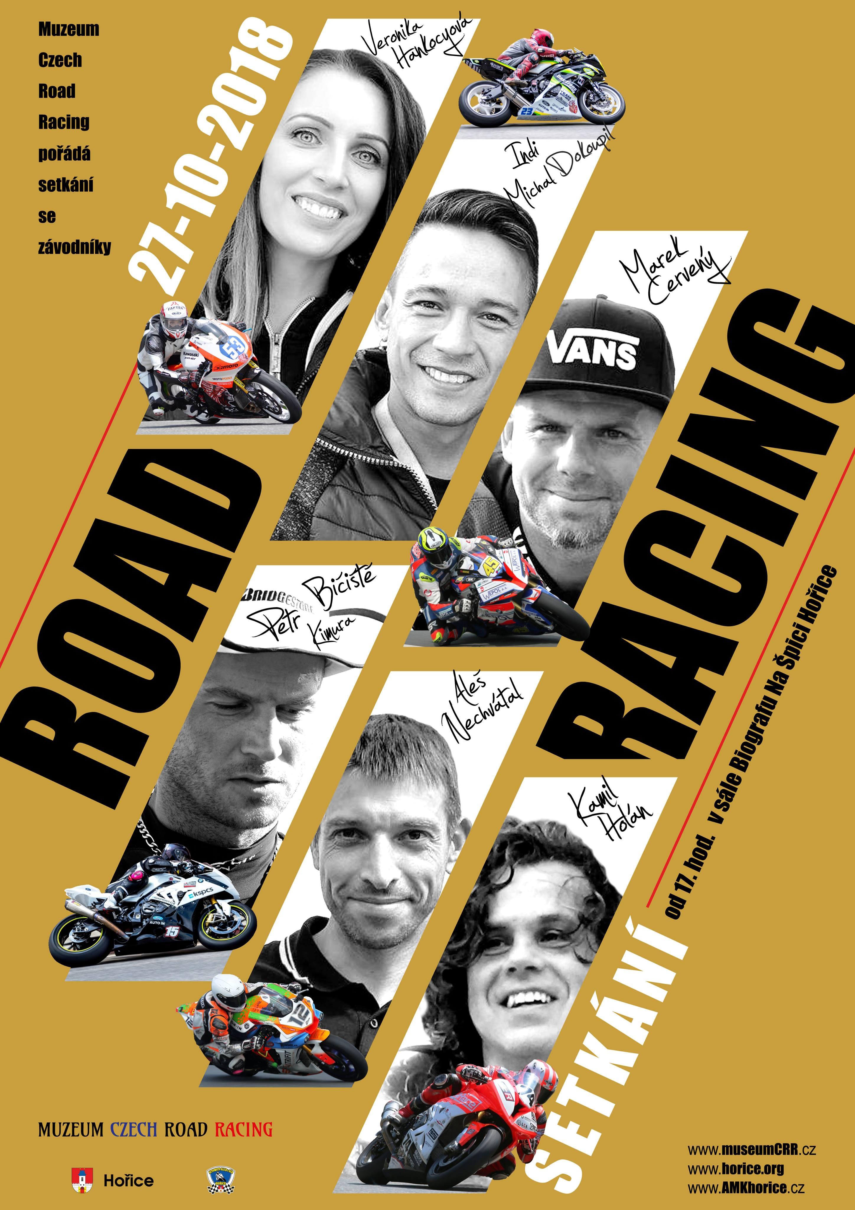 Setkání s jezdci road racingu v Hořicích