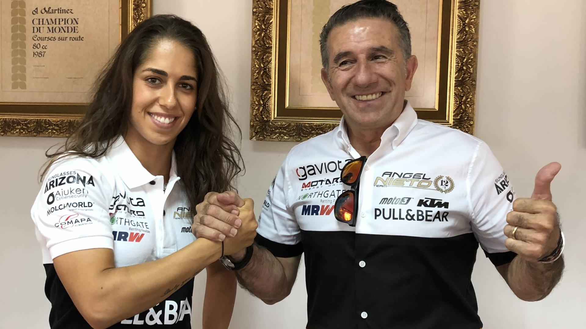 Maria Herrera pojede příští rok v MotoE s týmem Ángela Nieta
