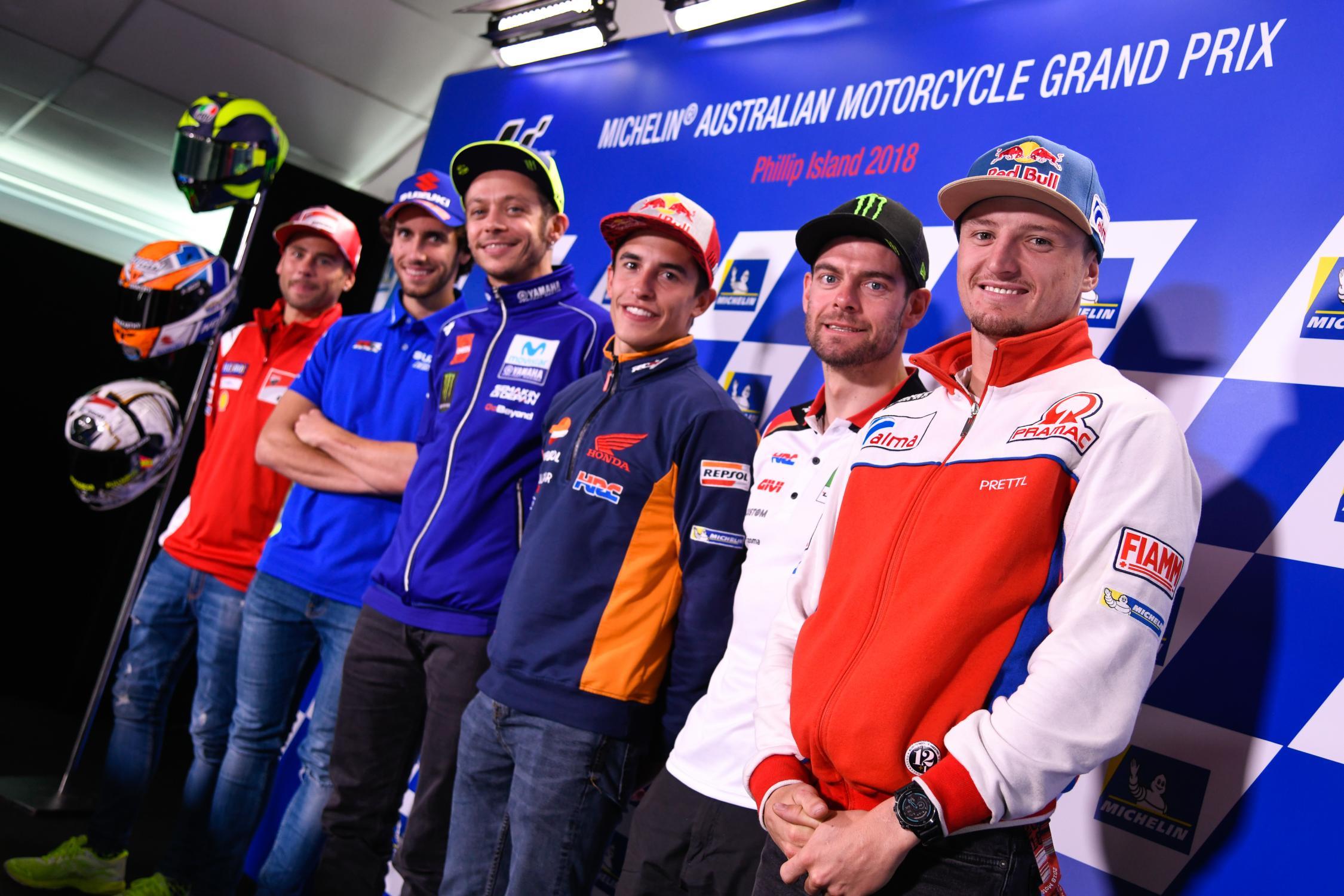 Tisková konference před MotoGP Austrálie 2018