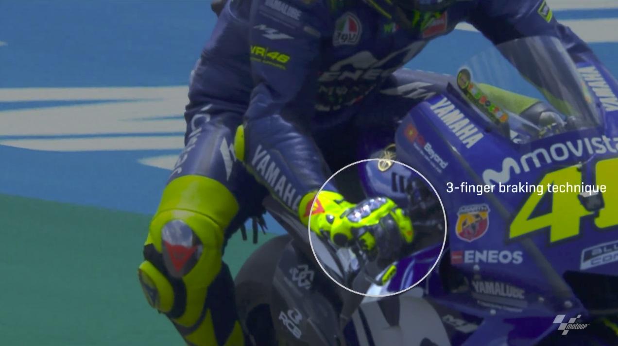 Brzdící technika jezdců MotoGP
