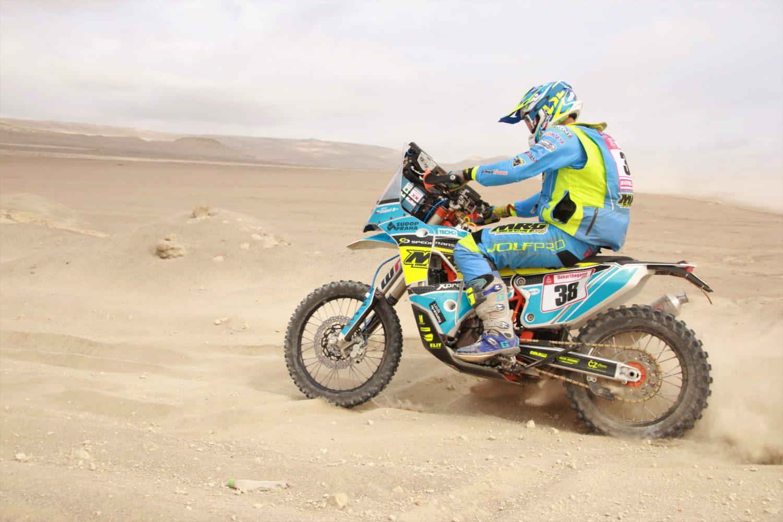 Český motorkář Engel celkově už na 16. místě Dakaru 2019