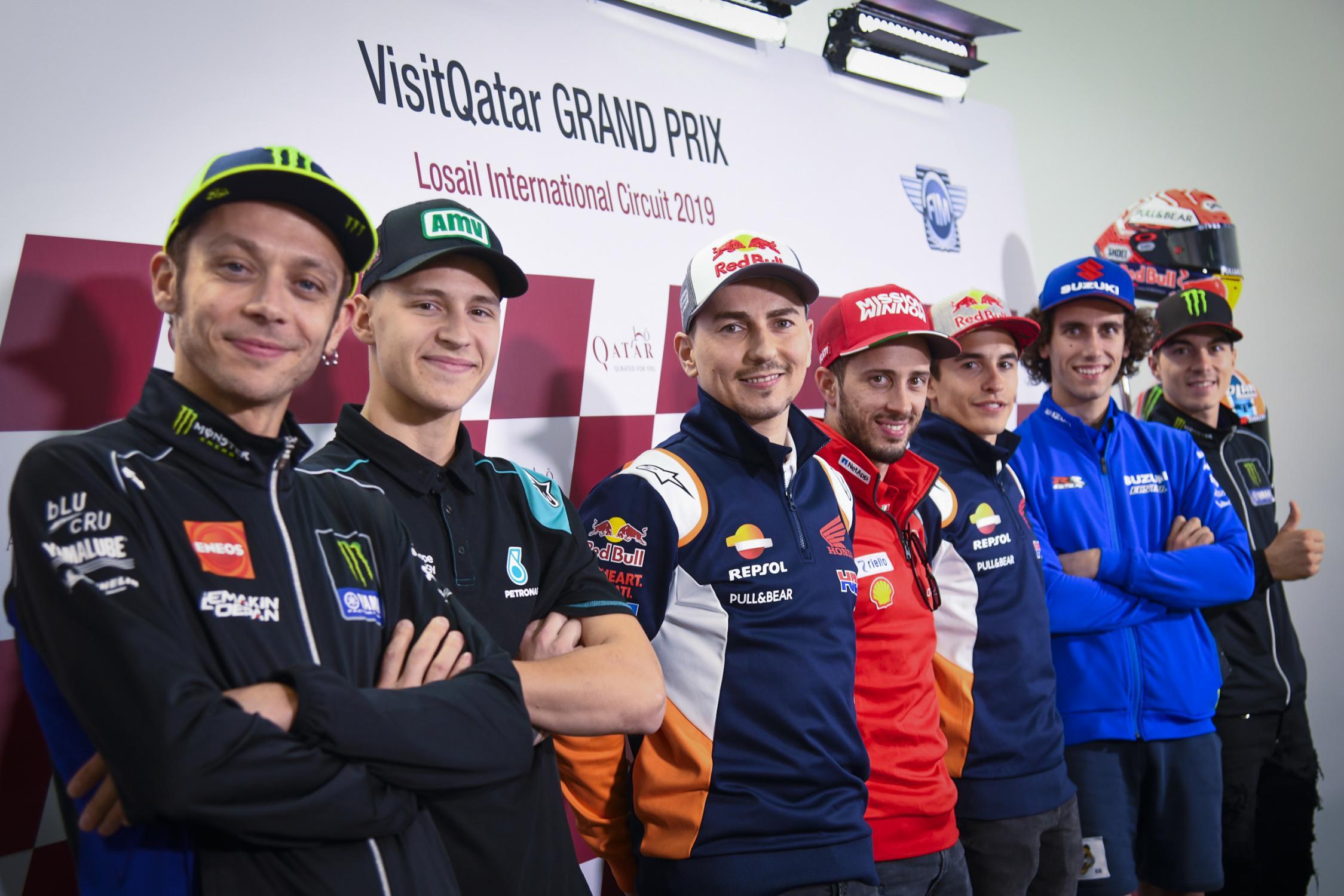 Tisková konference MotoGP Kataru 2019