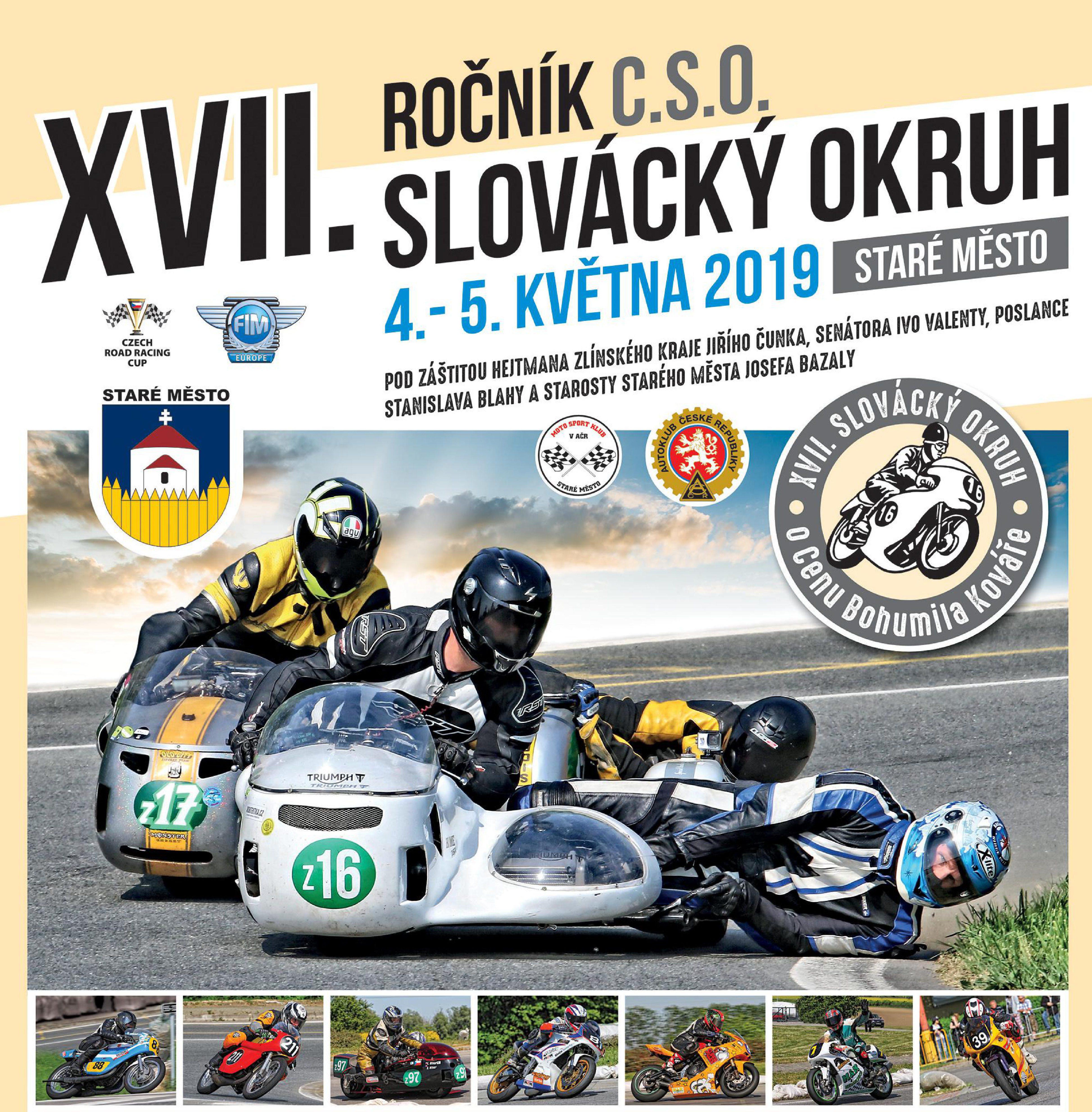 Výsledky závodů XVII. Slovácký okruh 2019