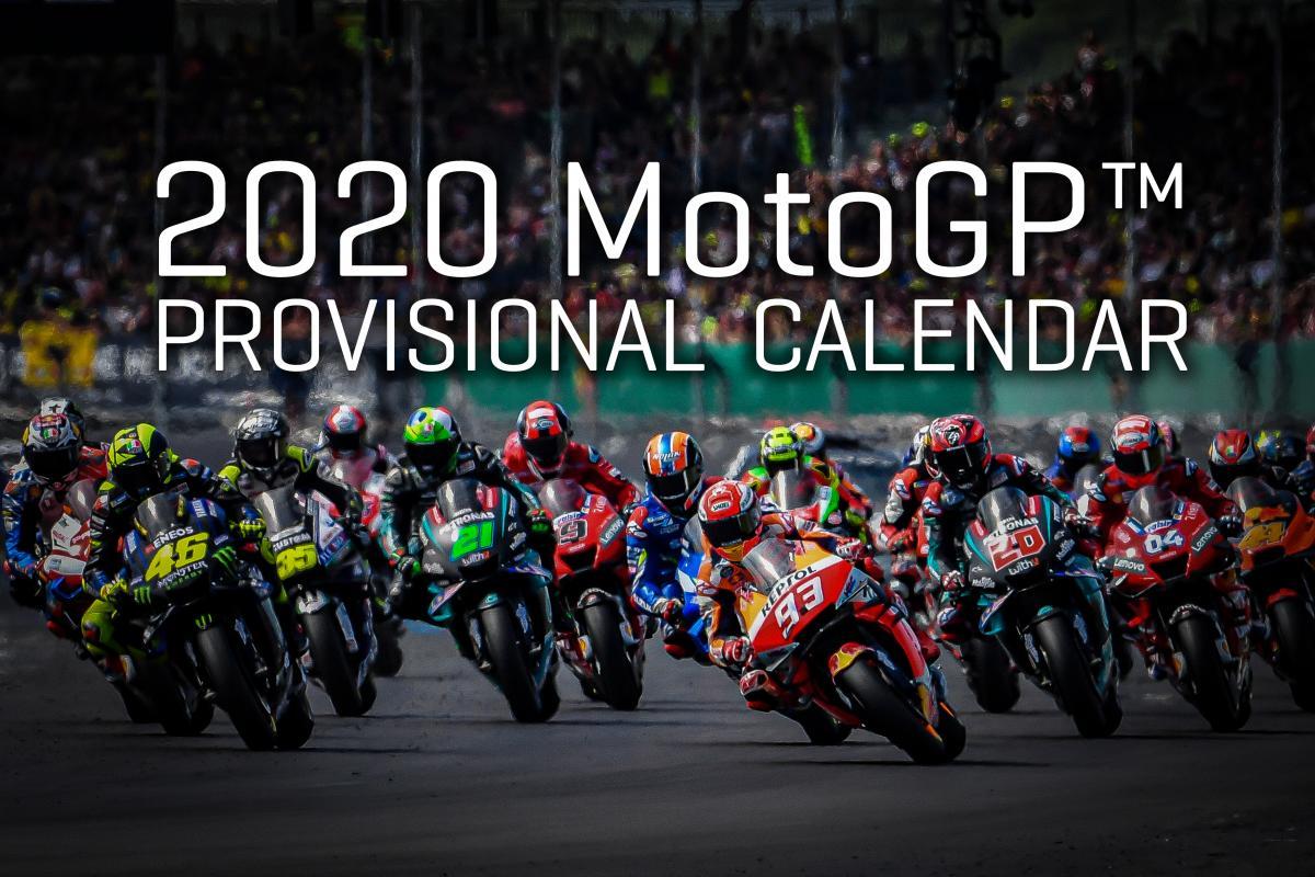 Provizorní kalendář MotoGP 2020