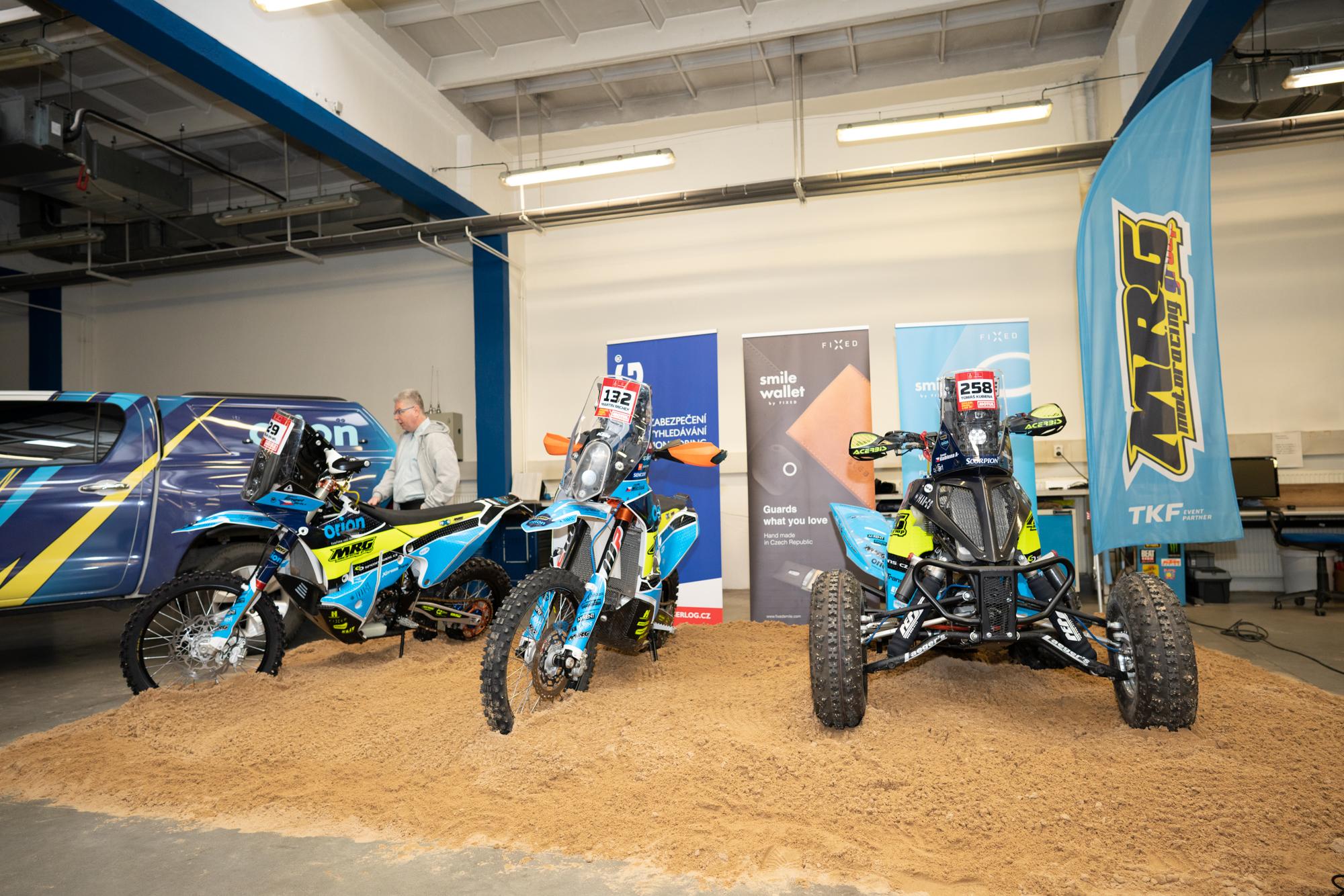 Představení týmu Orion – Moto Racing Group před Dakarem 2020
