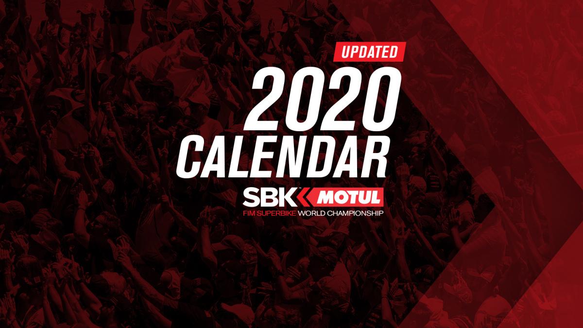 WorldSBK: Aktualizovaný kalendář na rok 2020