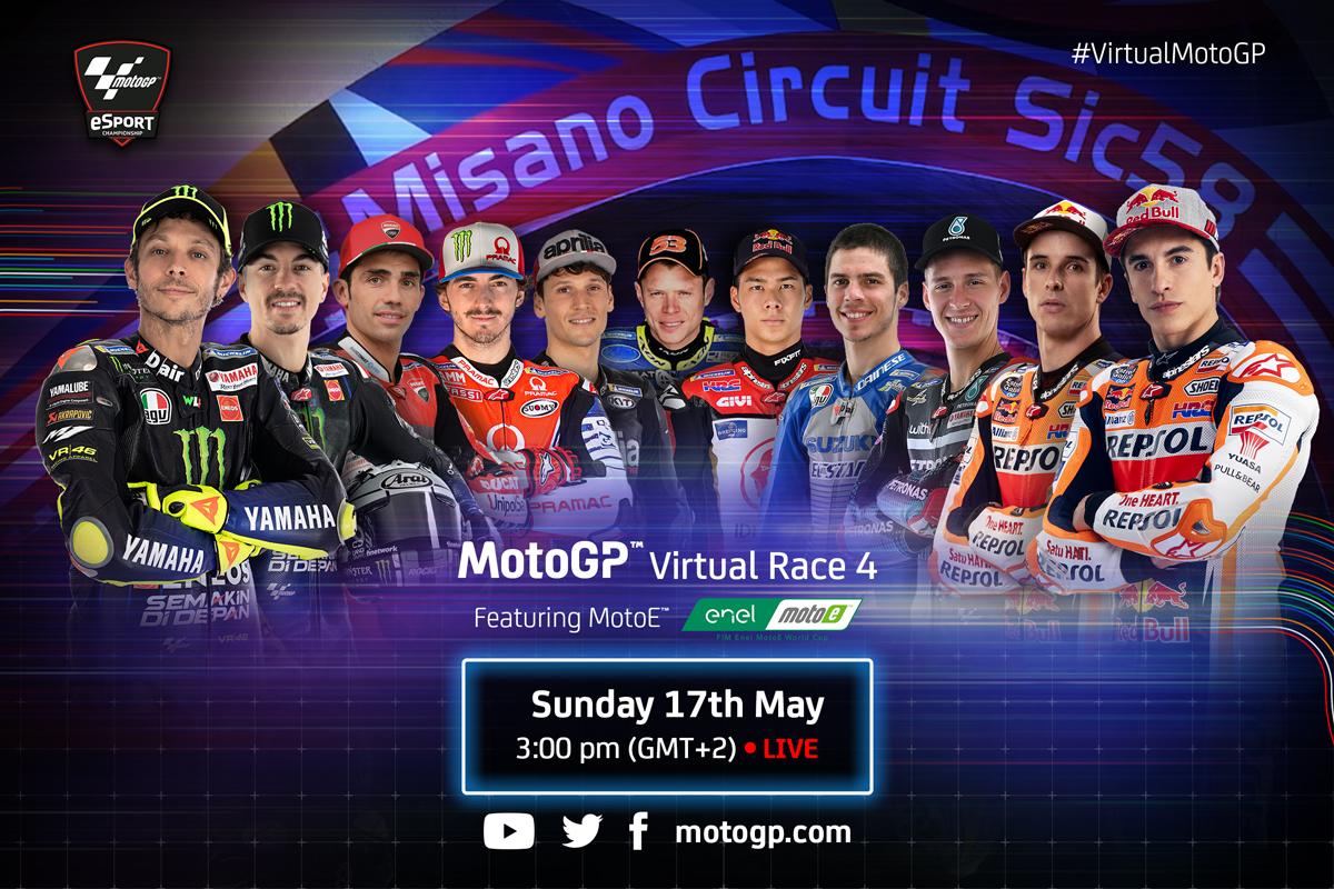 Čtvrtý virtuální závod MotoGP se pojede v Misanu